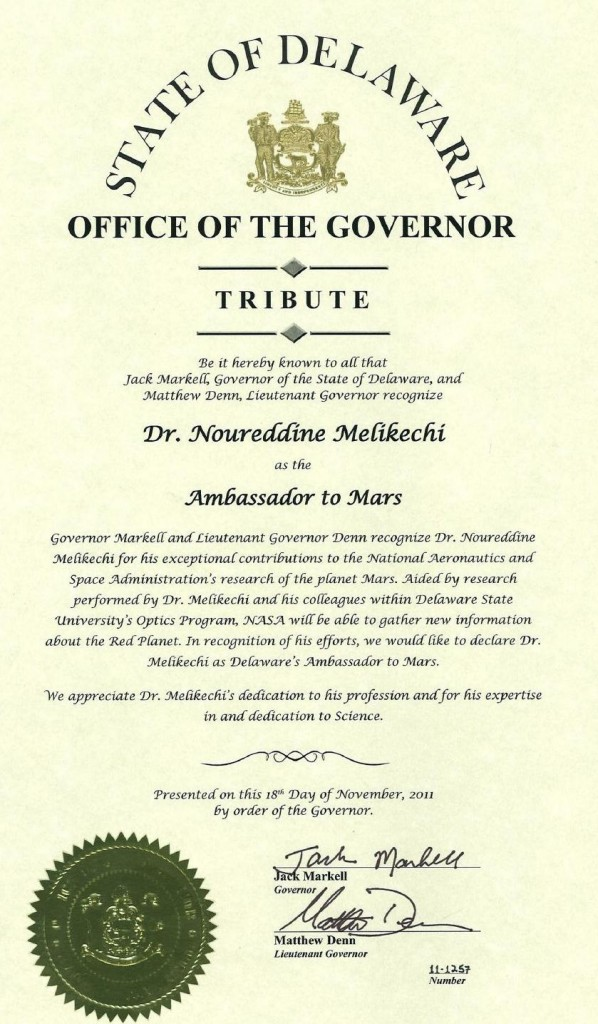 Tribute to Dr Melikechi