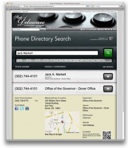 Phone directory detail - map view