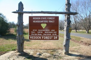 image: Stock photo of Redden State Forest Sign
