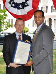 Governor Jack Markell and  DSHA Director Anas Ben Addi