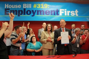 "Governor signs ""Employment First"" bill into law"