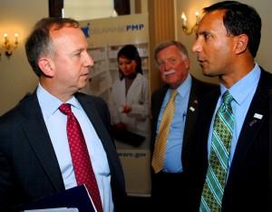Governor Markell with Dr. Randeep Kahlon and Sen. Brian Bushweller