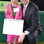 Gov. Markell and Giana Zamichieli, a kindergarten student at Kathleen Wilbur Elementary in Bear.