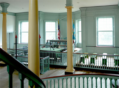 Photo of the courtroom inside The Old State House.