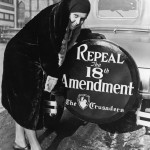 Photo of a woman supporting the repeal the 18th Amendment.