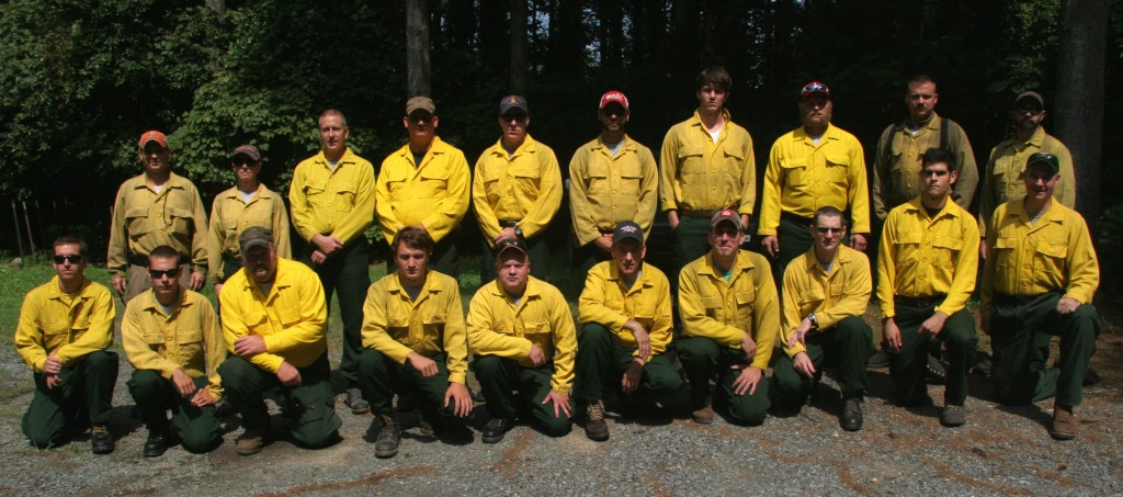 Delaware Forest Service wildfire crew