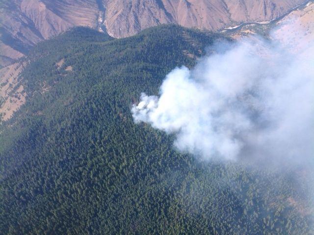 Aerial view of Idaho's Howard Fire
