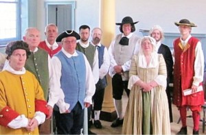 "Cast of ""The Trial of William Penn."""