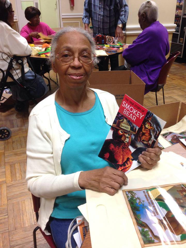 Dorothy Rice was part of the group of volunteers at Park View Apartments in Wilmington who helped prepare 2,000 Smokey Bear gift bags for the Delaware Forest Service's annual fire prevention education program.