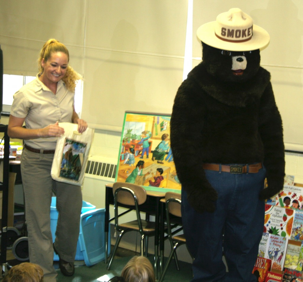 Delaware Forest Service Trainer-Educator Ashley Peebles oversees the successful Smokey Bear fire prevention education program that reaches around 9,000 first-grade students each year.