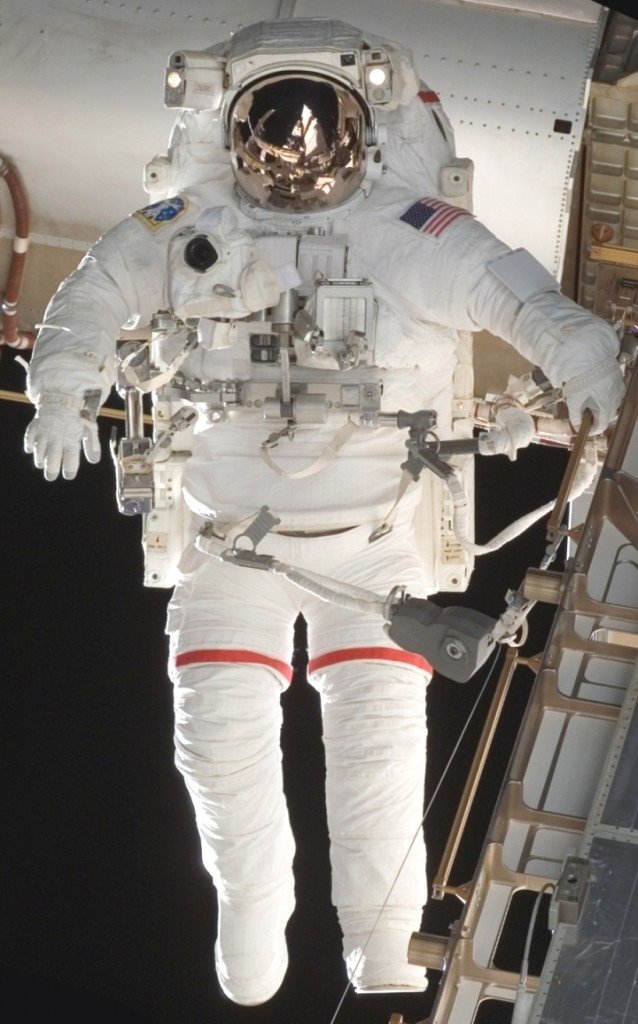 Space suit manufactured by ILC Dover.