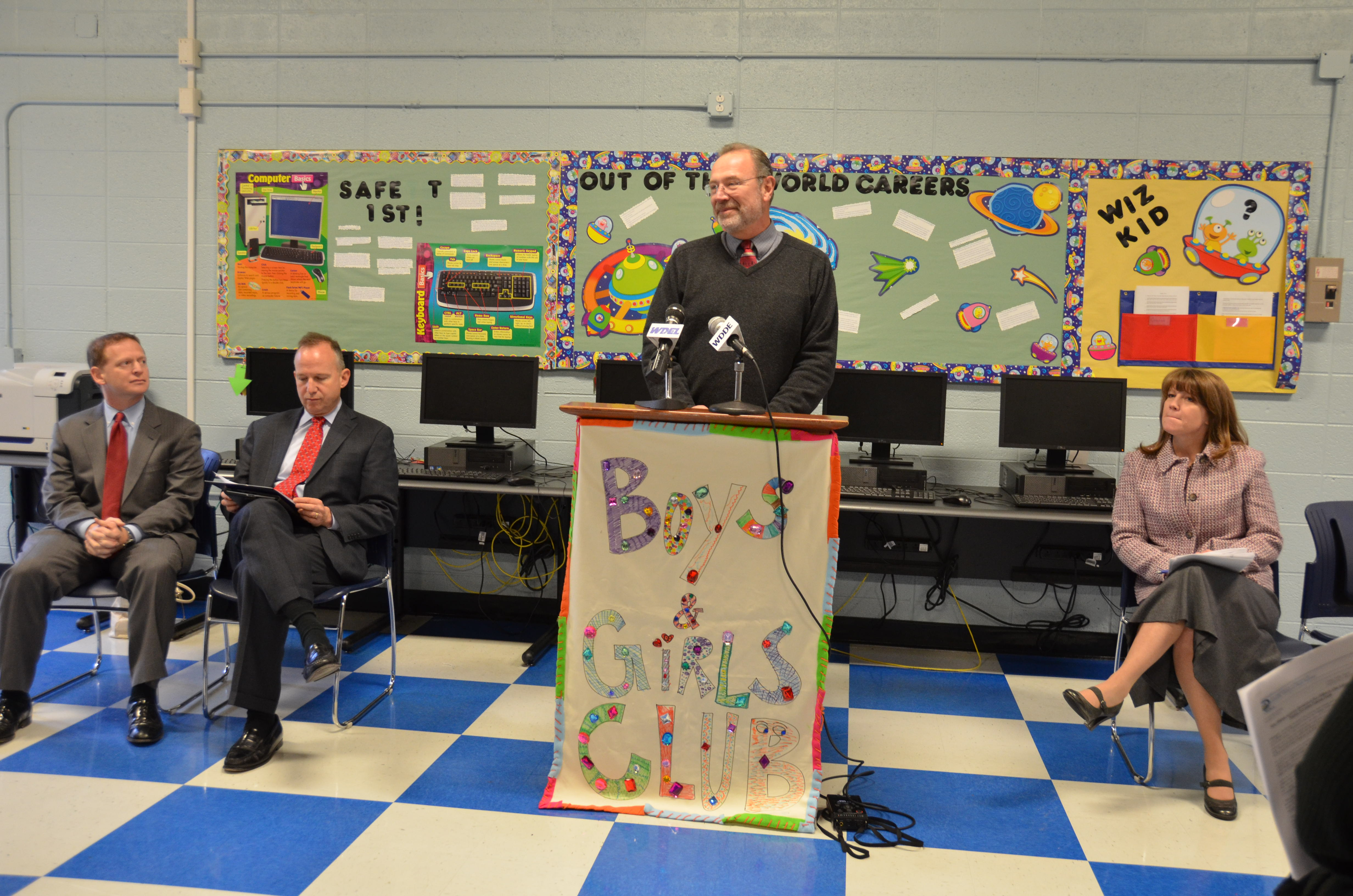 Speakers for after school funding announcement