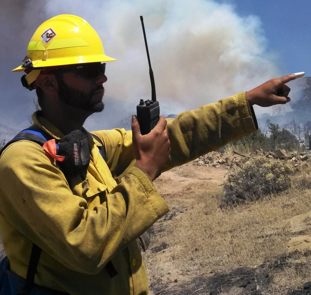 Volunteer firefighter Tyler Torres of Smyrna was part of the Delaware wildfire crew that helped fight the Patch Springs Fire near Terra, Utah in August, 2013.
