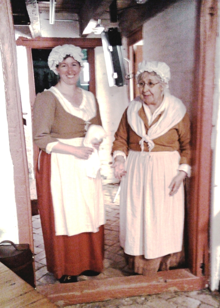 Historic-site interpreters Vertie Lee (left) and Barbara Carrow portray two of the women who lived and worked at the John Dickinson Plantation.
