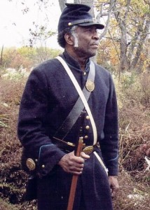 Willis Phelps will portray Pvt. James Elbert of the U.S. Colored Troops on June 15.