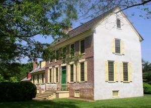 Mansion house at the John Dickinson Plantation.
