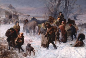 """The Underground Railroad,"" painting by Charles T. Webber, 1893."