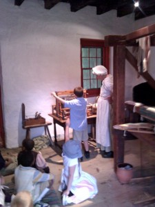 "Children learn about weaving at the John Dickinson Plantation. ""Fiber Arts Fridays"" will be held at the plantation on successive Fridays between Jan. 8 and 29, 2015."