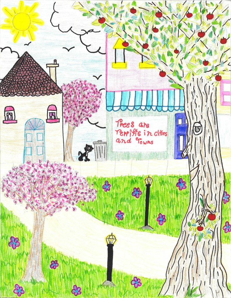 Isabella Garber, a fifth-grader at Newark's Christ the Teacher School, is the winner of the 2014 Arbor Day School Poster Contest sponsored by the Delaware Forest Service.