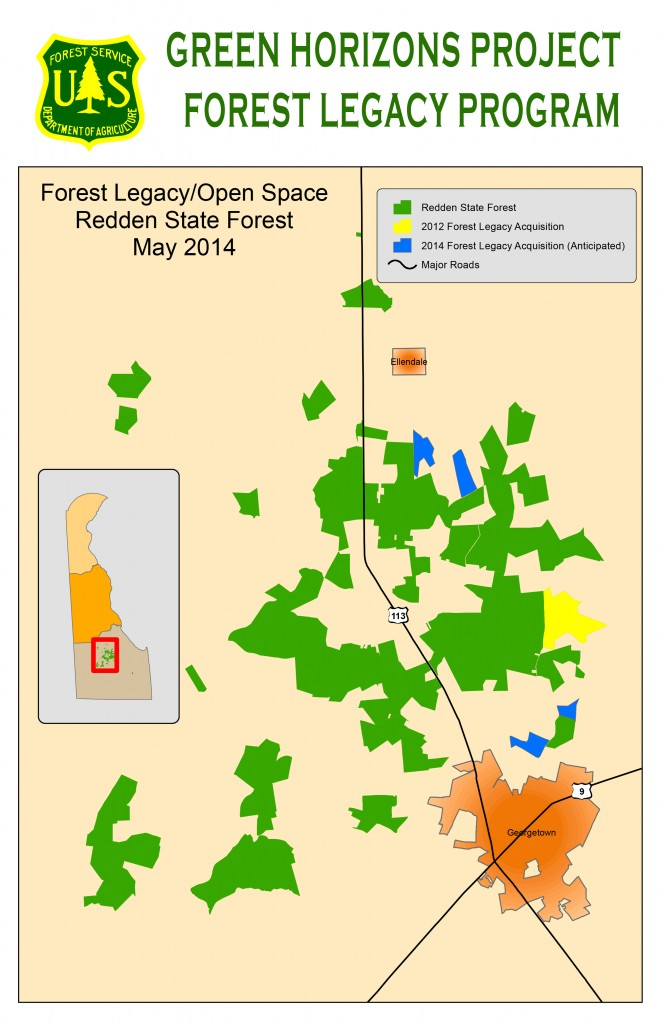 Map shows location of four parcels totaling 370 acres that are slated for purchase in 2014.