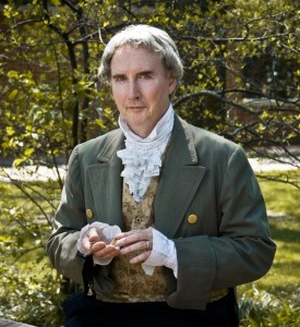 Bob Gleason of the American Historical Theatre will portray Benjamin Rush in a program at the John Dickinson Plantation on June 12. Photo by Karla Korn.