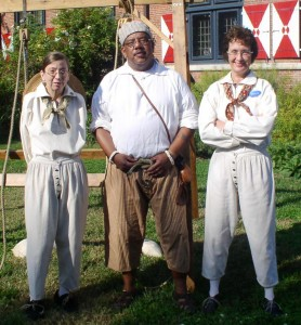 Historic-site interpreters, dressed in period clothing, will be demonstrating shipboard life at the Zwaanendael Maritime Festival on May 24, 2014.