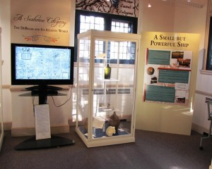 "Section of the exhibit, ""A Seaborne Citizenry: The DeBraak and Its Atlantic World."""