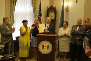 DE Gov. Jack Markell bill signing - SB 191 offering economic development incentives for downtown revitalization