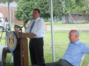 DNREC Secretary Dave Small spoke on the historical importance of Fort DuPont.