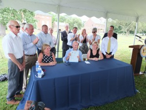 Governor Markell signed House Bill 310, establishing the Fort DuPont Redevelopment and Preservation Corporation.