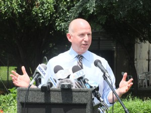 Governor Markell spoke at the bill signing ceremony for legislation to improve animal welfare.