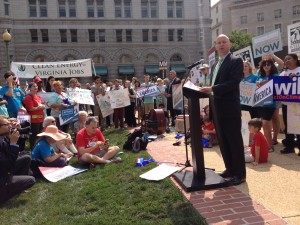 Governor Markell testified at one of the Environmental Protection Agency's sites in support of its Clean Power Plan.
