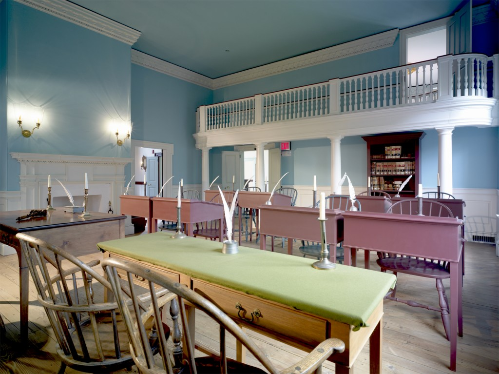 Senate chamber in The Old State House. Photo by Don Pearse Photographers.
