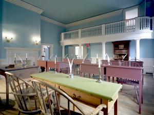 Restored Senate chamber in Dover, Del.'s Old State House. The preservation of the historic building will be explored in programs from May 6 to 8. Photo by Don Pearse Photographers.