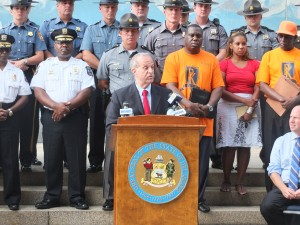 Department of Safety and Homeland Security Secretary Lew Schiliro spoke about gun violence in Delaware.