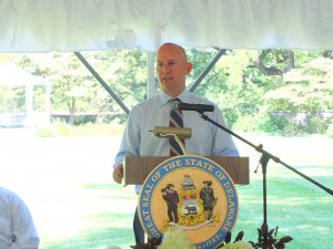 Governor Markell spoke about Senate Bill 75.