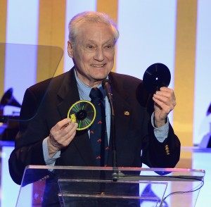 Oliver Berliner upon accepting his grandfather's 2nd Grammy Award, January 2014. Photo courtesy NARAS.