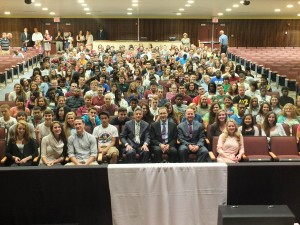 Governor Markell visited the senior class of Concord High School.