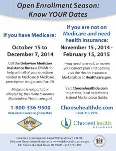 Know Your Open Enrollment Dates 2014