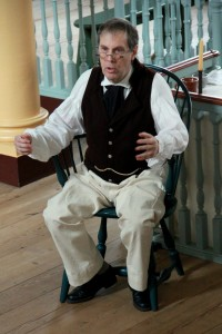 Historical interpreter Dennis Fisher will portray 19th-century Dover physician James Sykes on April 16, 2015.