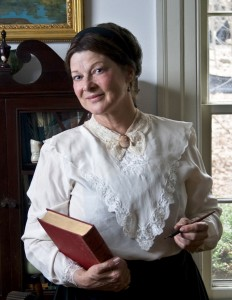 Pat Jordan of the American Historical Theatre will portray novelist Louisa May Alcott on April 30, 2015.