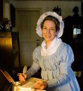 Kim Hanley will portray first lady Abigail Adams on June 25, 2015.