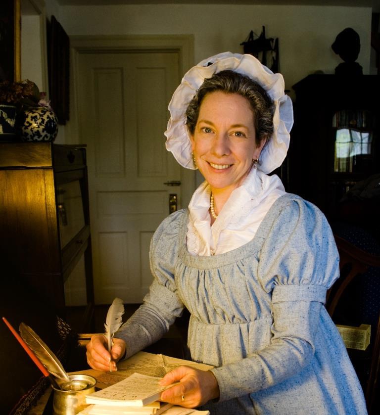 Kim Hanley will portray first lady Abigail Adams on June 25, 2015.