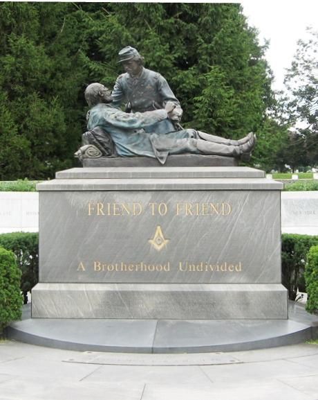 """Friend to Friend,"" Masonic memorial in the Gettysburg National Cemetery, Gettysburg, Pa."