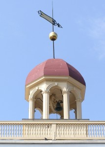 Cupola of the New Castle Court House Museum. The site's bell will ring at 3:15 p.m. on April 9, 2015 in commemoration of Robert E. Lee's surrender at Appomattox in 1865.