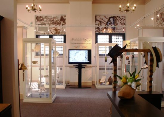 "Photo of a section of the exhibit ""A Seaborne Citizenry: The DeBraak and Its Atlantic World"""