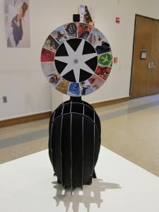 "Wonder Wheel, 2015 paper board, 8"" x 8"" x 18.5"""