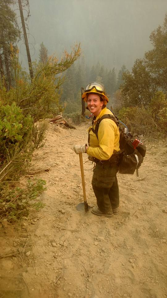 Katrina Rothbart of Magnolia is part of the Delaware crew assigned to the Fork Complex, a wildfire in Northern California's Shasta-Trinity National Forest that has burned more almost 28,000 acres. The crew should return to the First State this weekend.