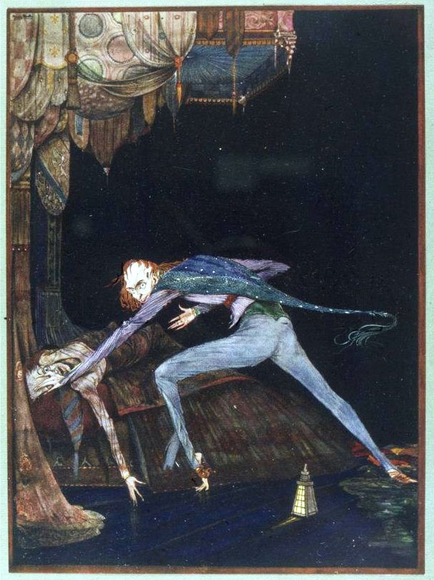"Illustration of ""The Tell-Tale Heart"" by Harry Clarke, circa 1919."