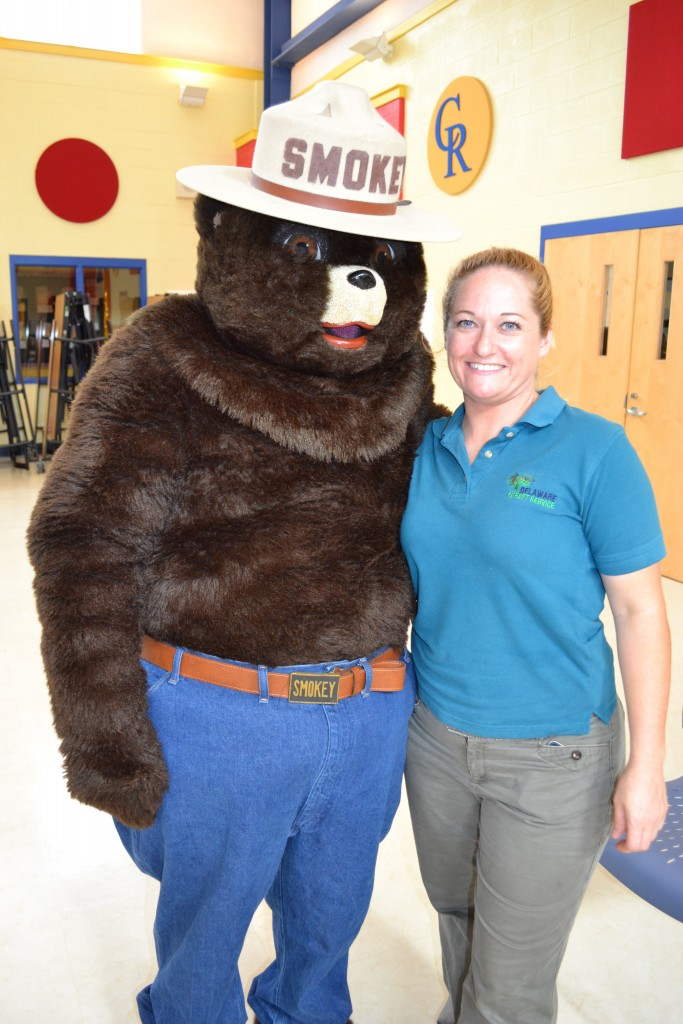 Smokey Bear visits Delaware schools for fire prevention month